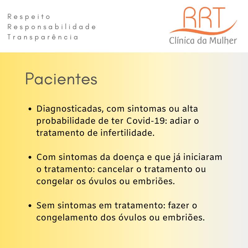 Tratamentos de Reprodução Humana Assistida na Quarentena do Covid-19