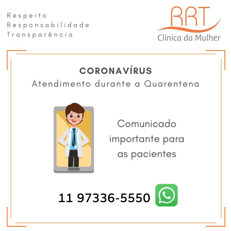 Coronavírus Atendimento online durante a Quarentena