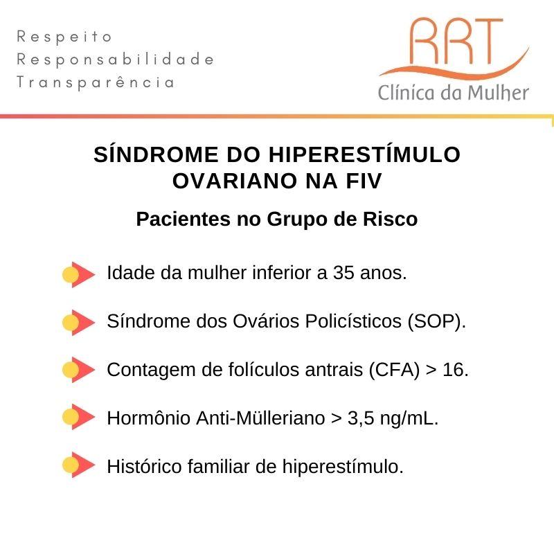 Síndrome do Hiperestímulo Ovariano grupo de risco