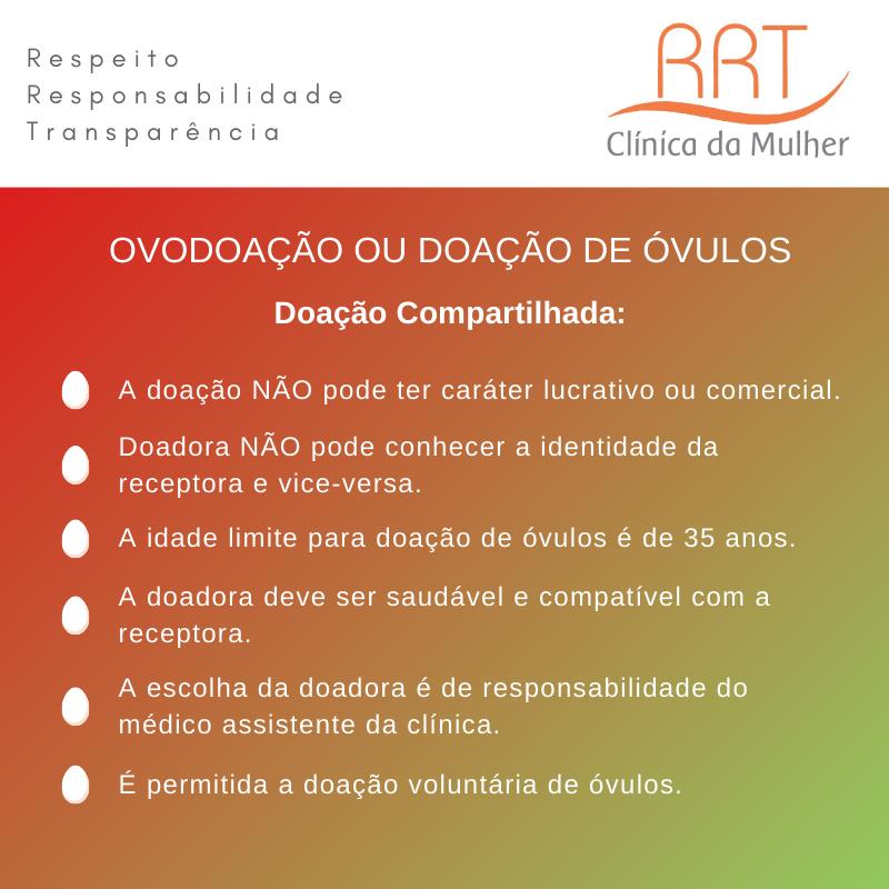 ovodoação ou doação de óvulos compartilhada no Brasil